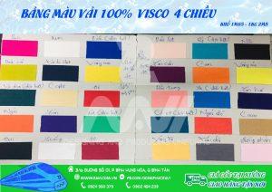 bảng màu vải visco
